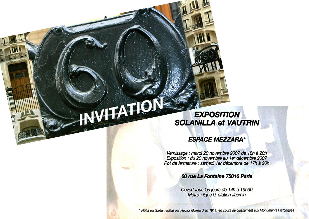 2007 Invitation Espace Mezzara