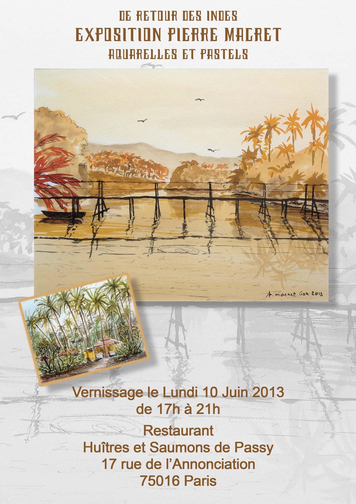 """Exposition """"De retour des Indes de Pierre Macret """" 2013"""
