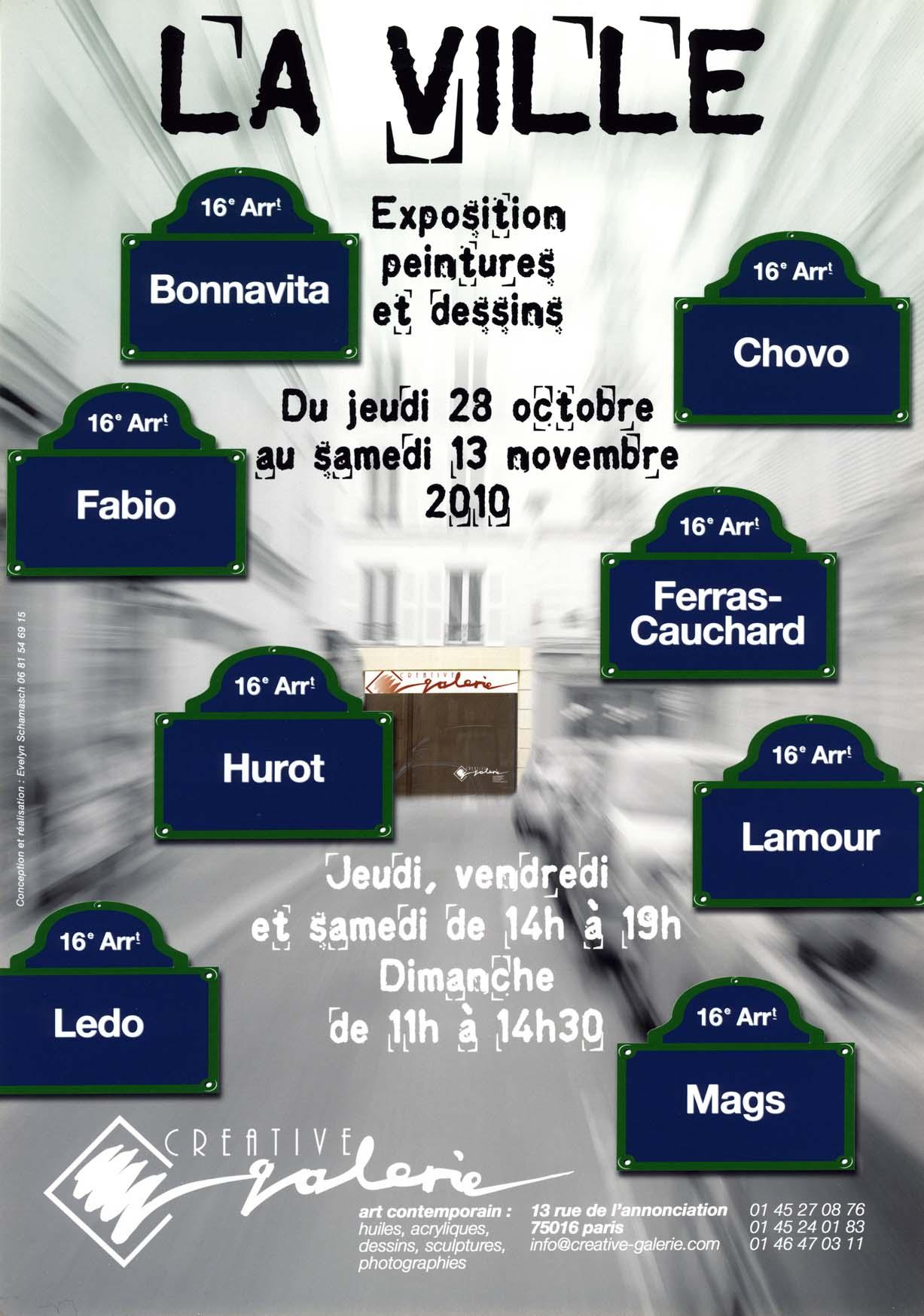 """Créative Galerie Exposition """"La Ville 1"""" 2010"""