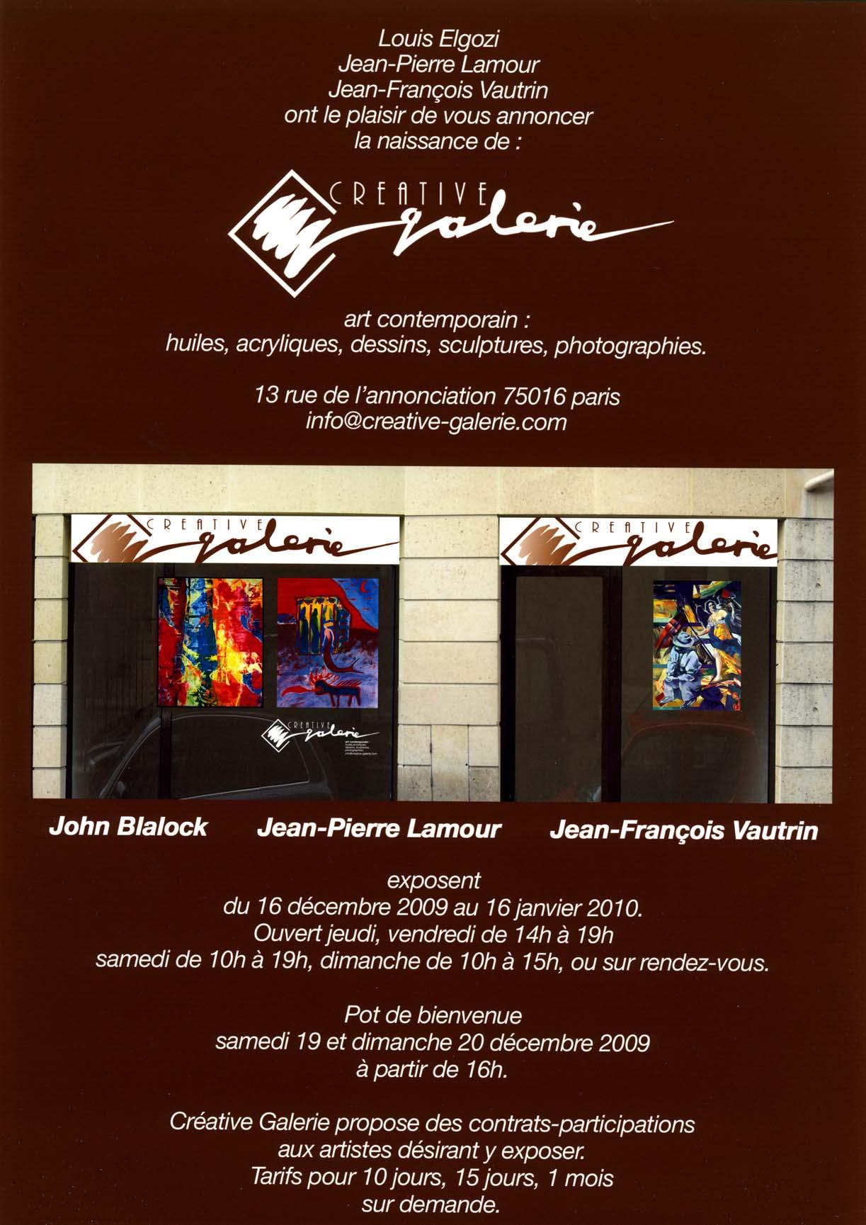 Créative Galerie Exposition 2009