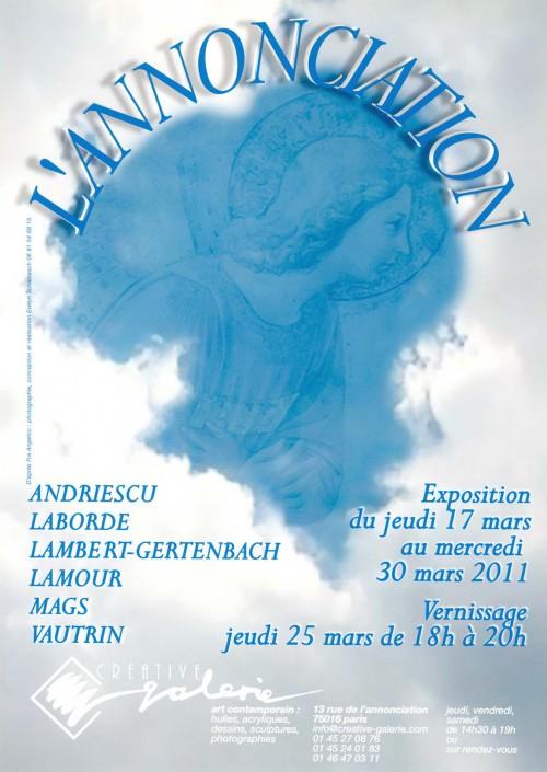 """Créative Galerie Exposition """"L'Annonciation"""" 2011"""