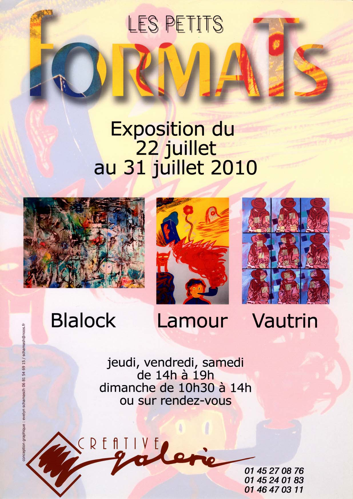"""Créative Galerie Exposition """"Petits Formats"""" 2010"""
