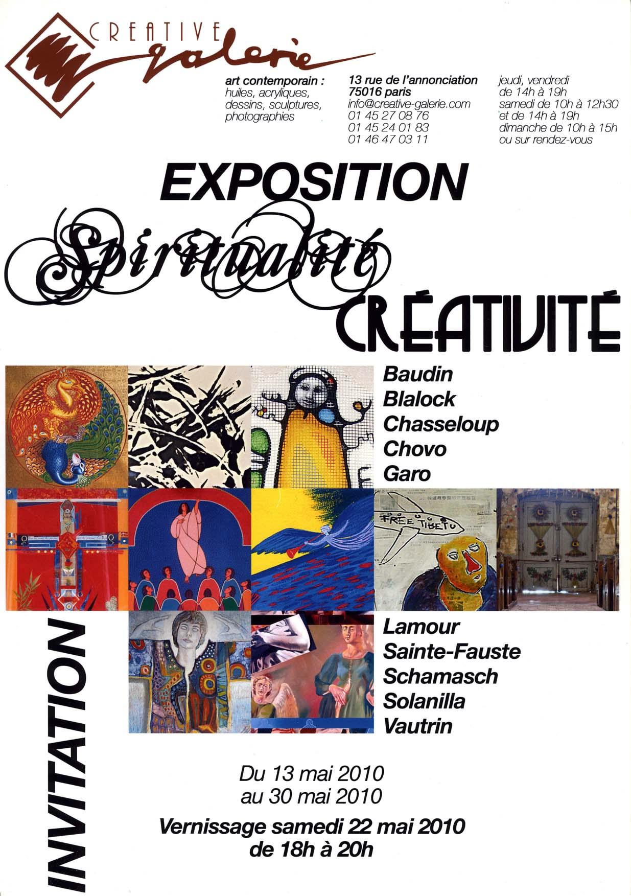 """Créative Galerie Exposition"""" Spitualité Créativité"""" 2010"""