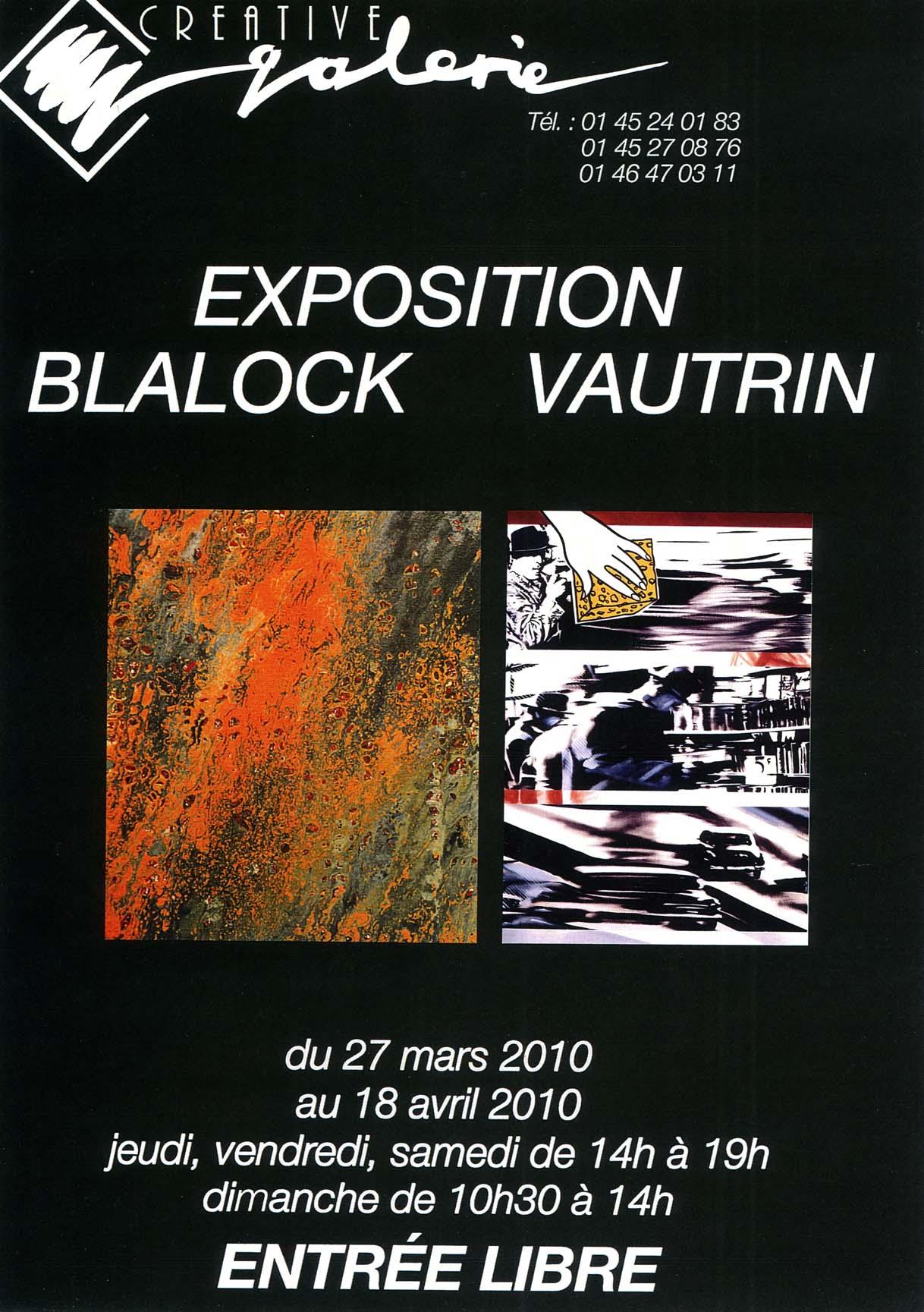 """Créative Galerie Exposition """"Vautrin et Blalock"""" 2010"""