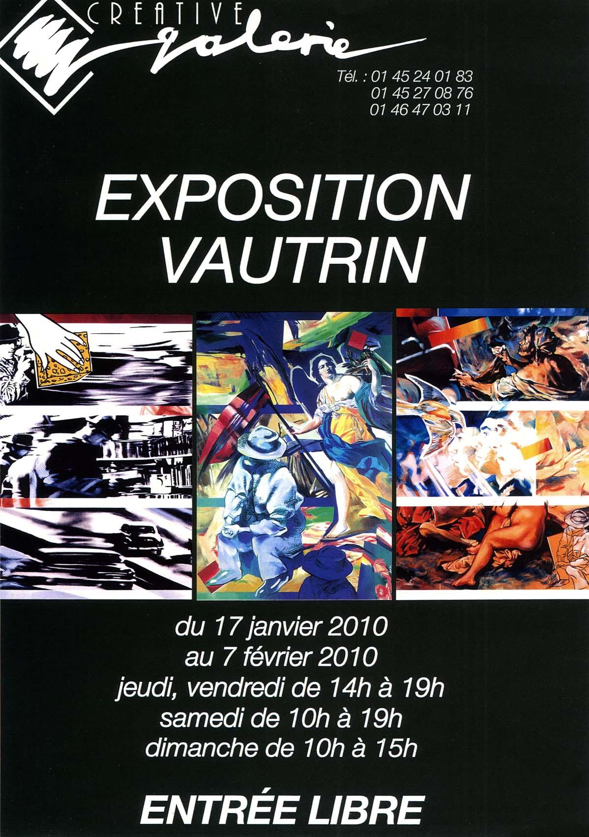 Créative Galerie Exposition Vautrin 2010