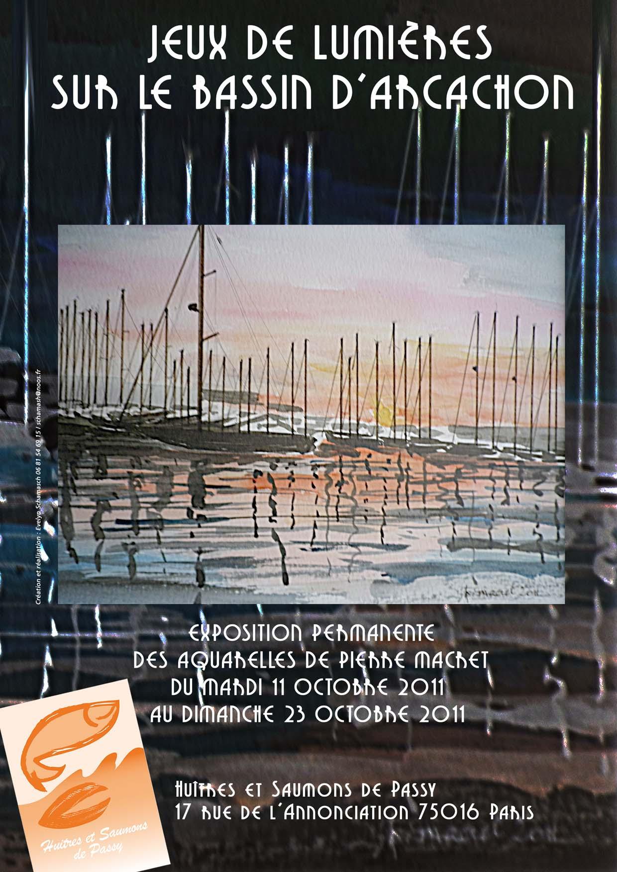 """Créative Galerie Exposition """"Jeux de lumières sur le bassin d'Arcachon"""" 2011"""