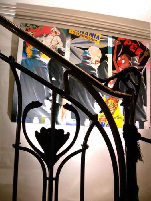 Rampe d'escalier dessinée par Hector Guimard
