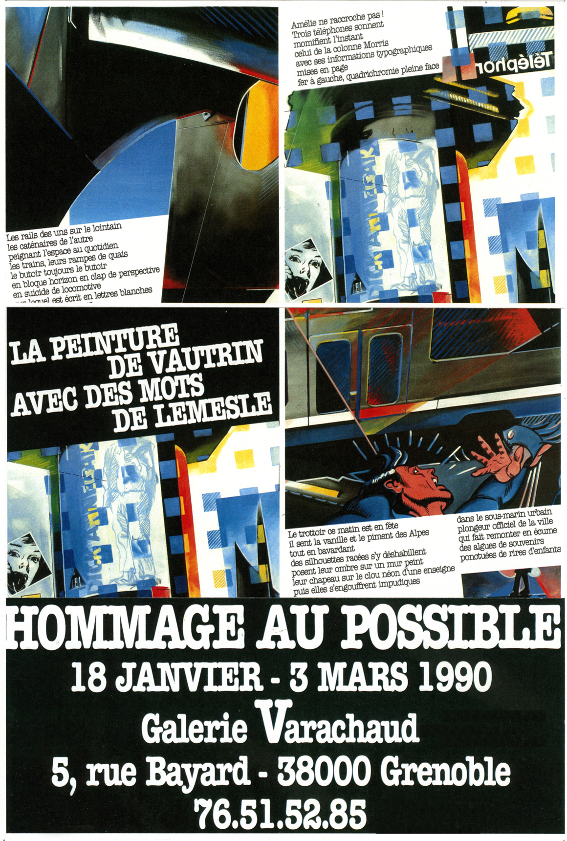 1990 Affiche Expo Grenoble