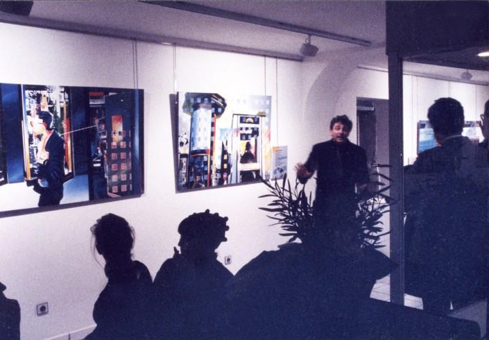 Jean-François Kopf comédien dit les poèmes de Lemesledevant chaque toile concernée 3