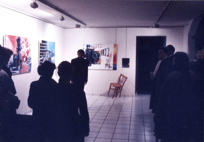 Jean-François Kopf comédien dit les poèmes de Lemesledevant chaque toile concernée 4