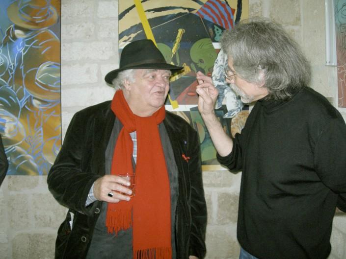Henri Talvat président du festival du cinéma méditerranéen, ancien adjoint à la culture de Montpellier et J-F Vautrin à droite