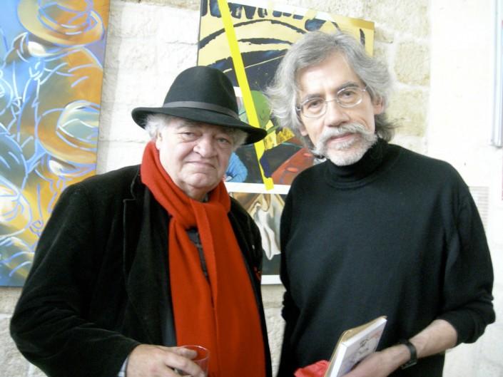 Henri Talvat président du FRAC Languedoc-Roussillon et J-F Vautrin à droite